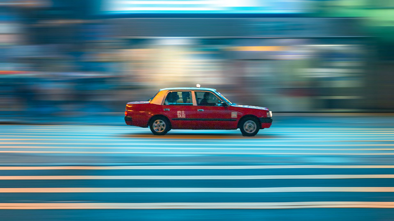 Car, Taxi, Street, Wallpapers Free Download For Desktop