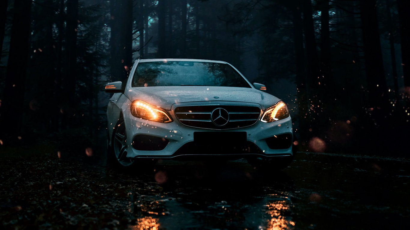 Mercedes, Car, White Wallpapers Download For Mobile