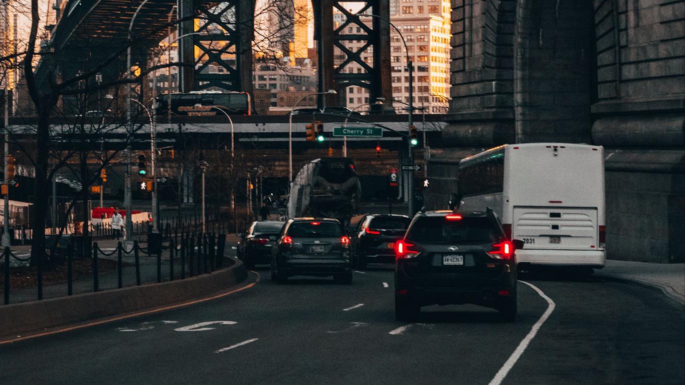 Road, Bridge, Cars HD Wallpapers Free Download