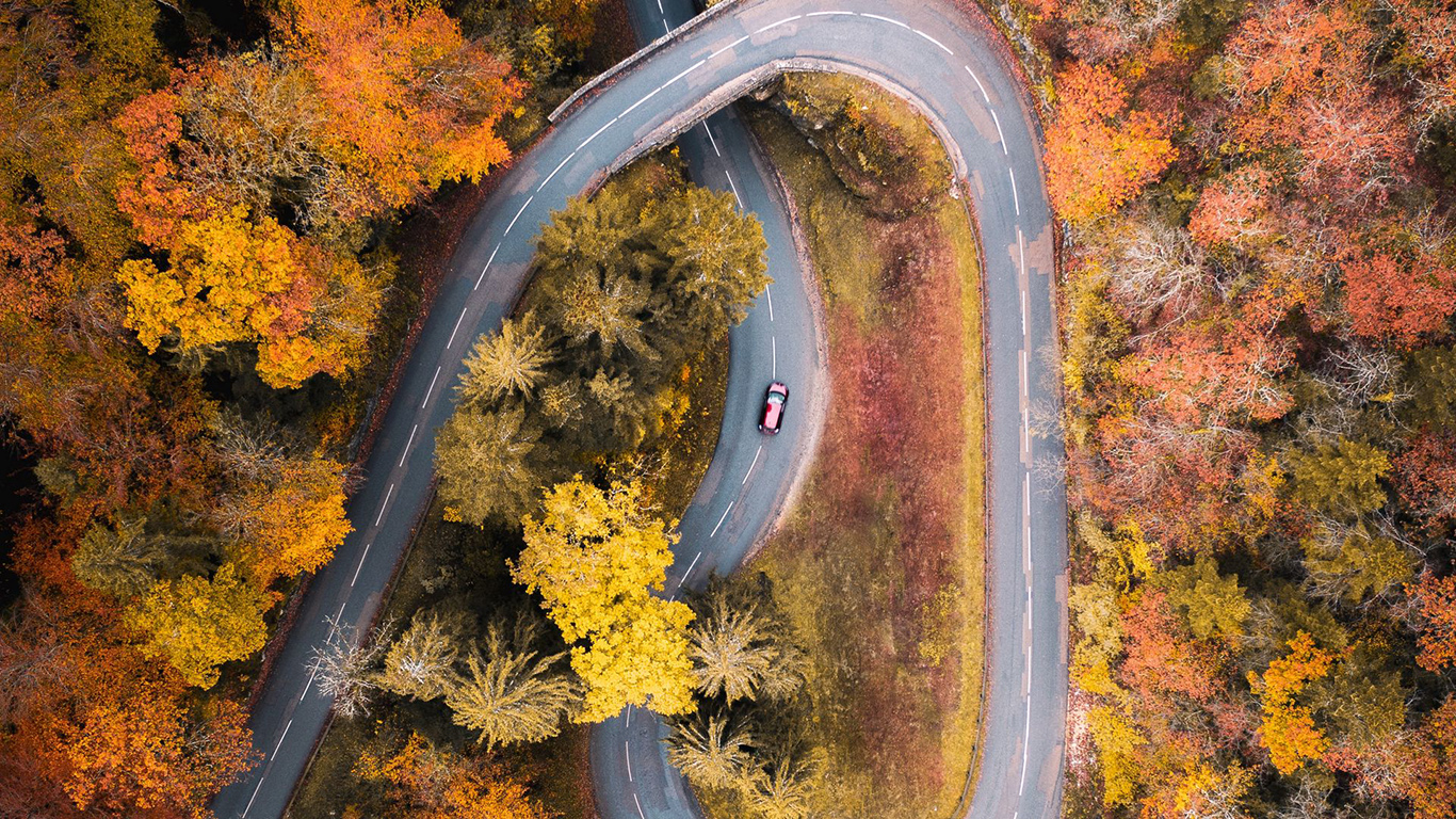Road, Car, Aerial, View HD Wallpapers Free Download