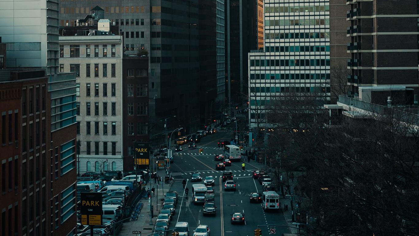 Street, Buildings, Aerial, View HD Wallpapers Free Download