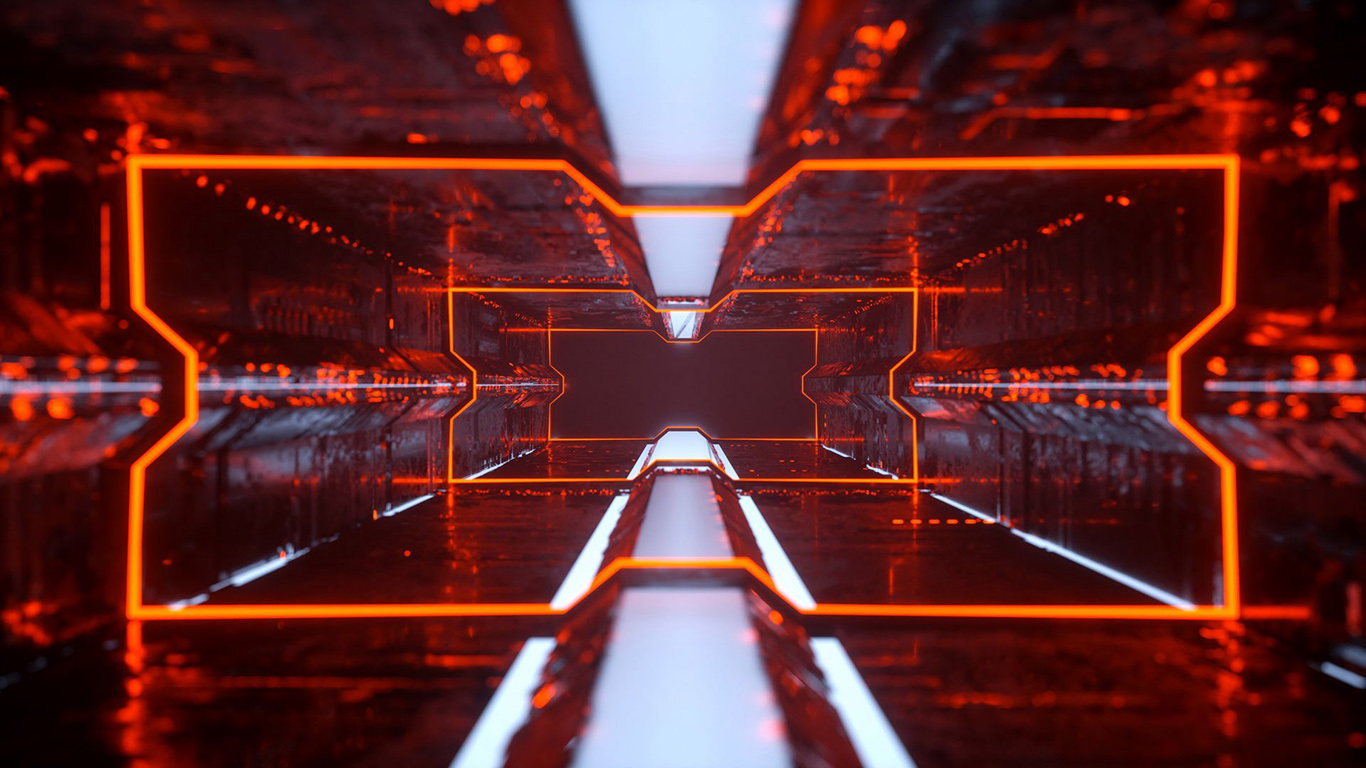 Tunnel, Neon, Lighting Wallpapers Free Download