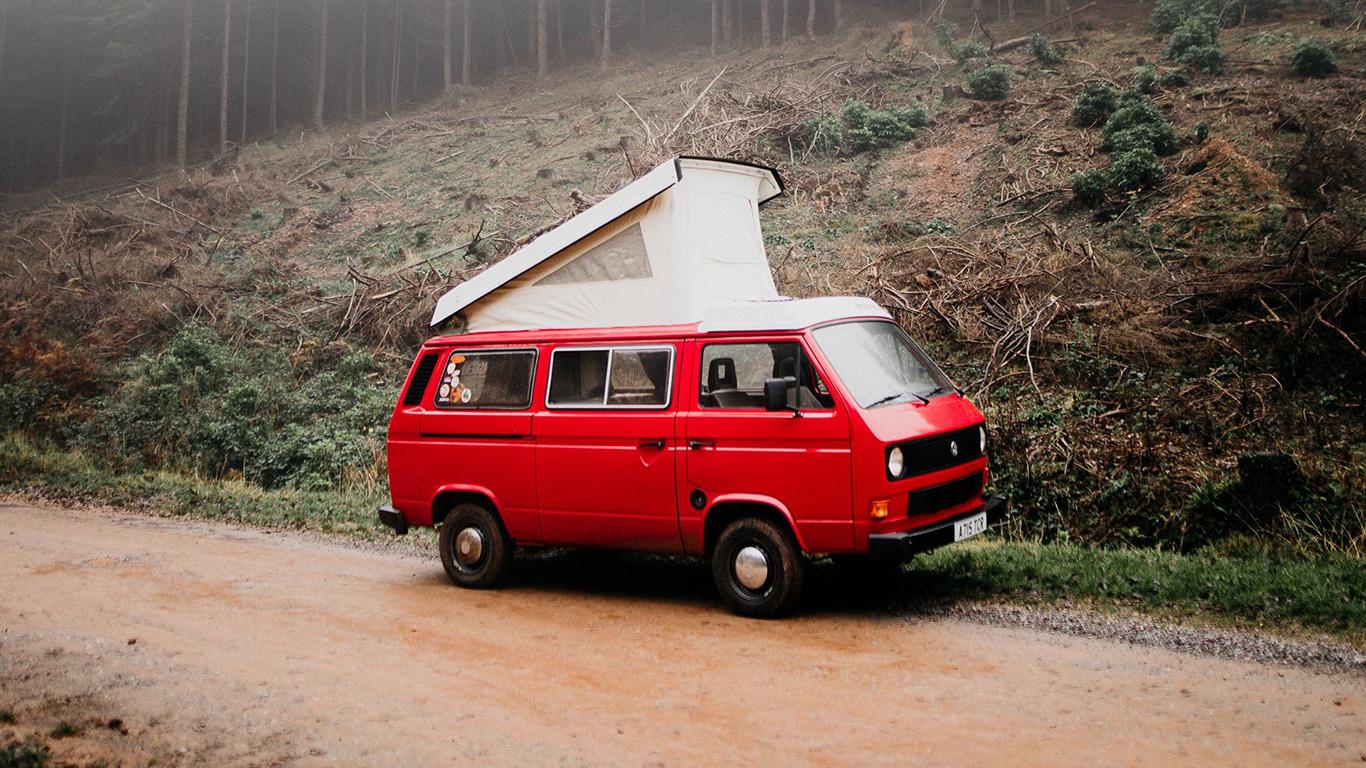 Van, Car, Red Wallpapers Free Download (2)