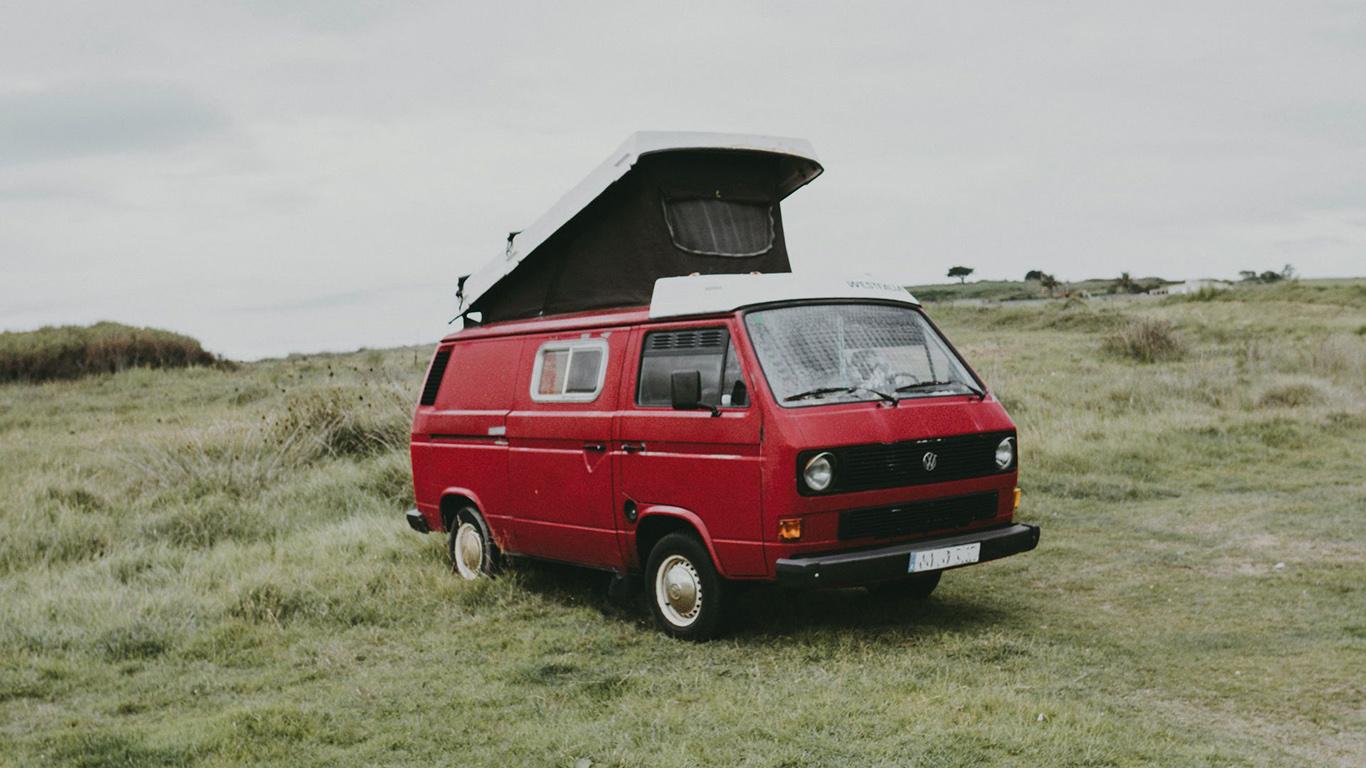 Van, Car, Red Wallpapers Free Download