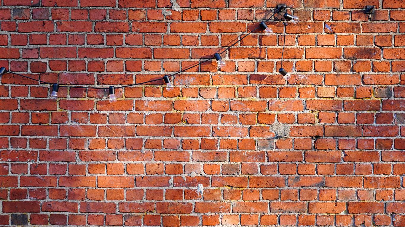 Wall, Brick, Garland Wallpapers Free Download