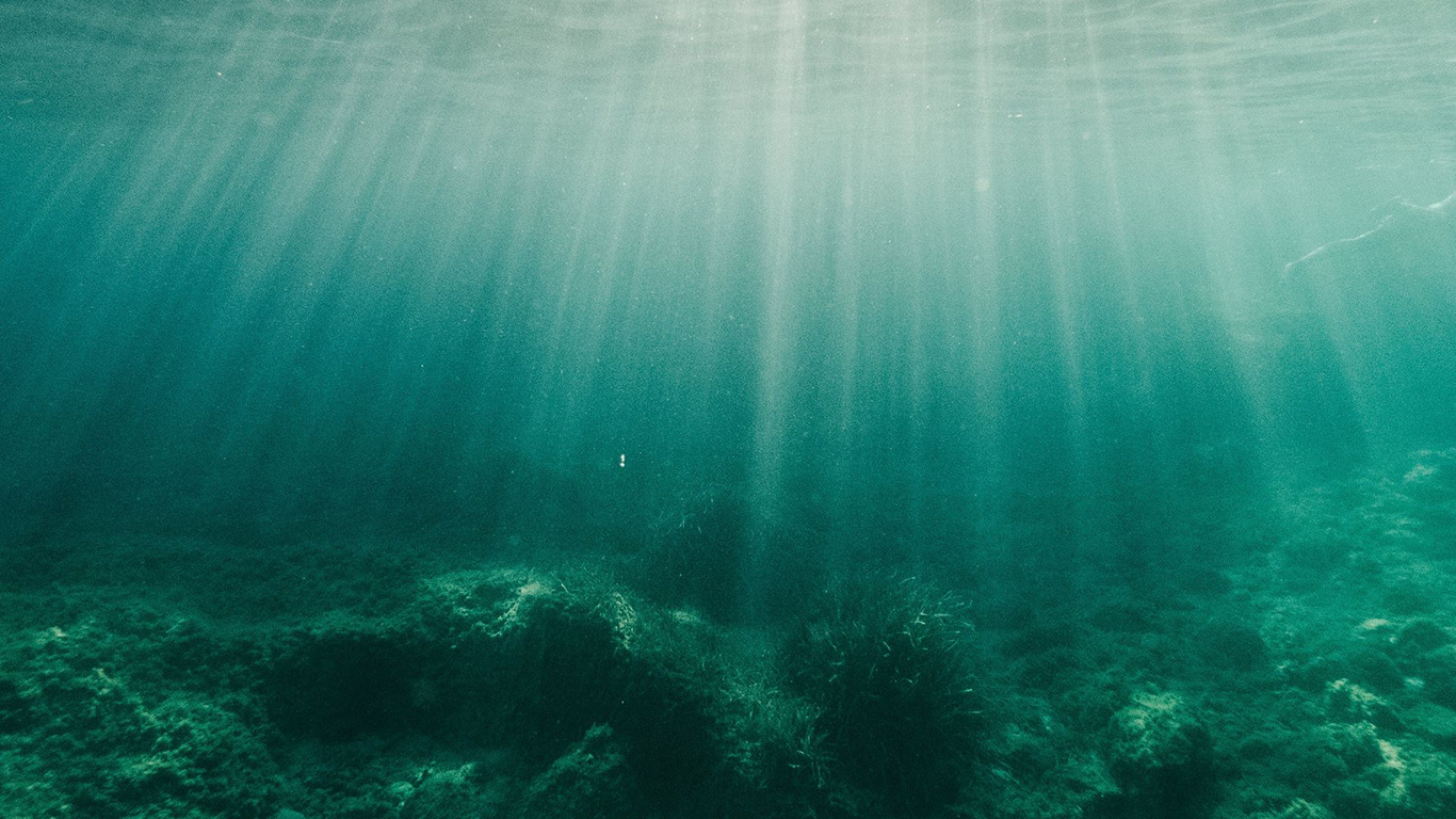Water, Rays, Bottom Wallpapers Free Download