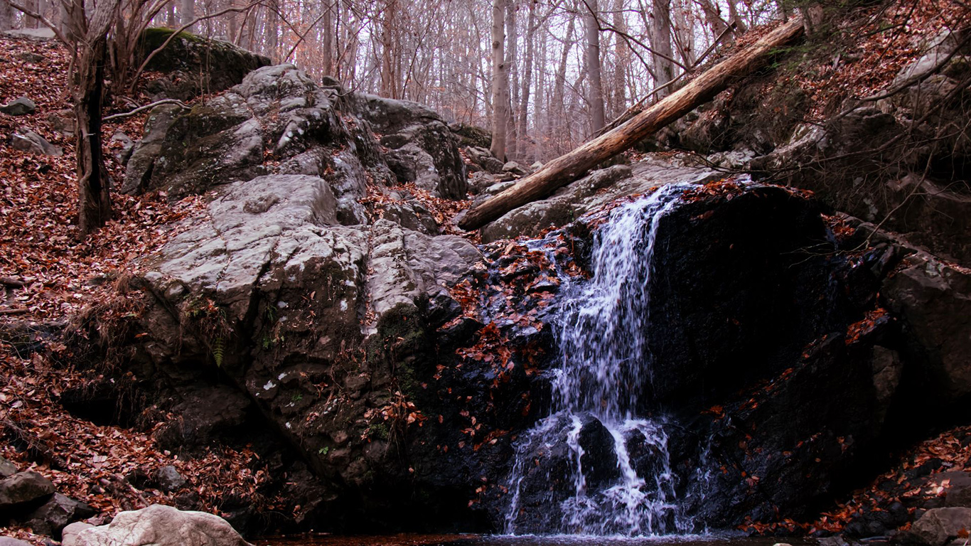 Waterfall, Rock, Stream Wallpapers Download