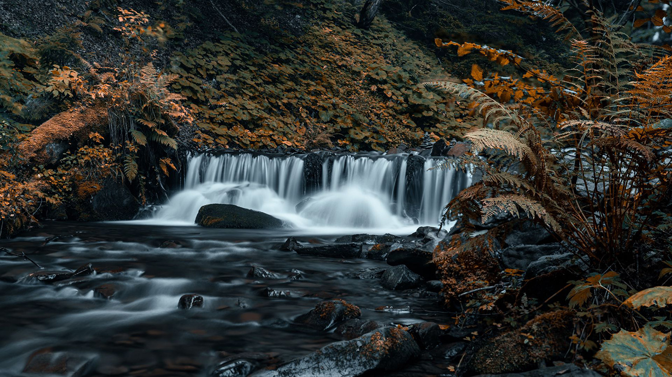 Waterfall, Stones, Stream Wallpapers Download (1)