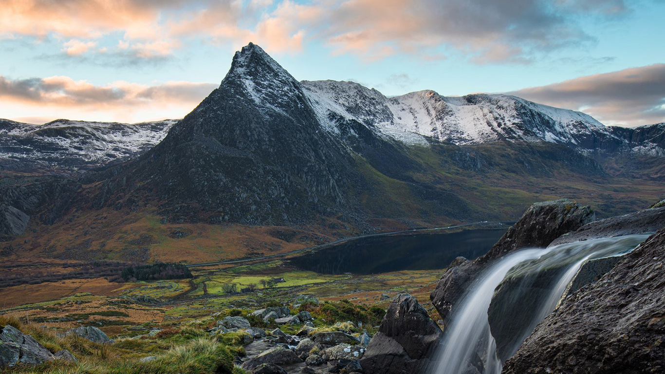 Waterfall, Stream, Mountains Wallpapers Download