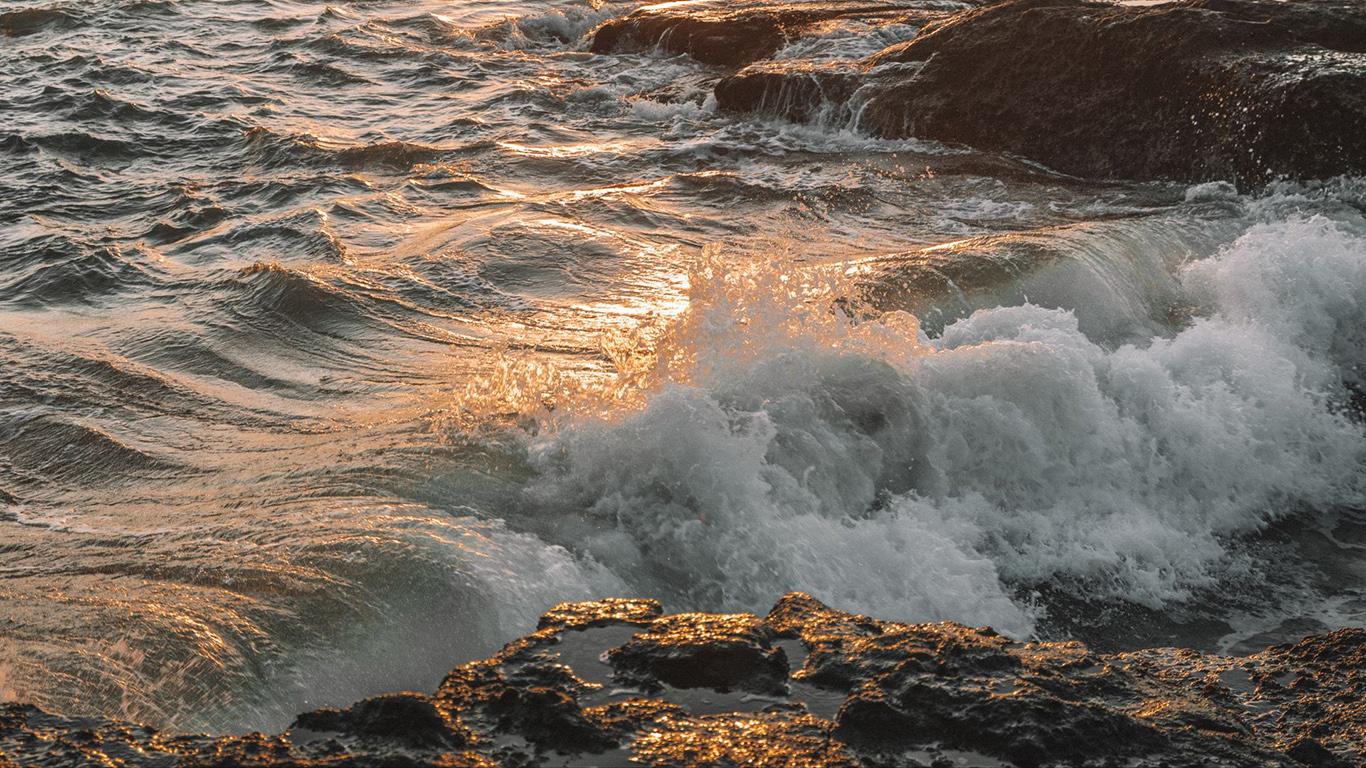 Waves, Spray, Rocks, Wallpapers Download
