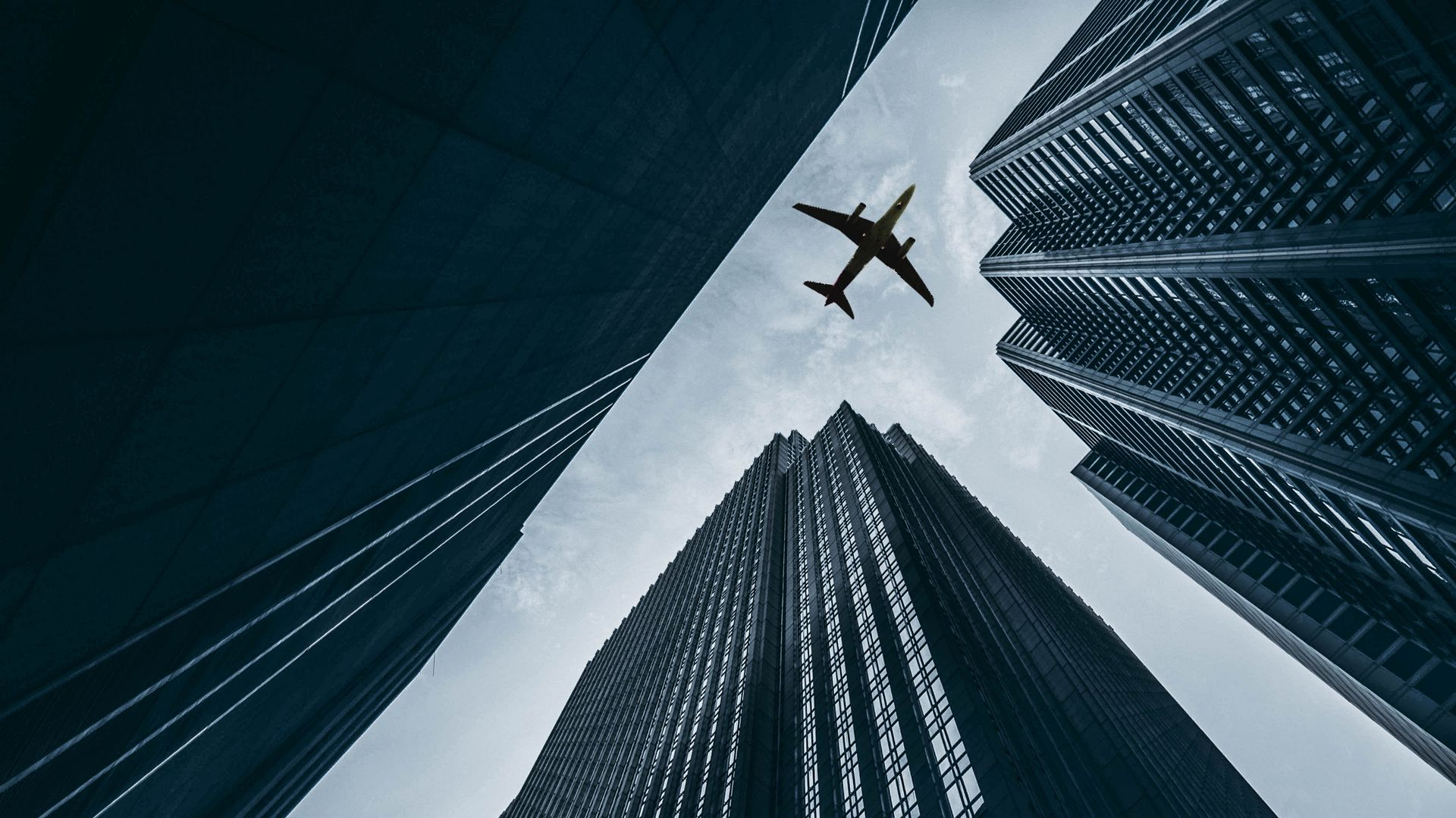 Airplane, Buildings, Skyscrapers, Sky Wallpapers Free Download