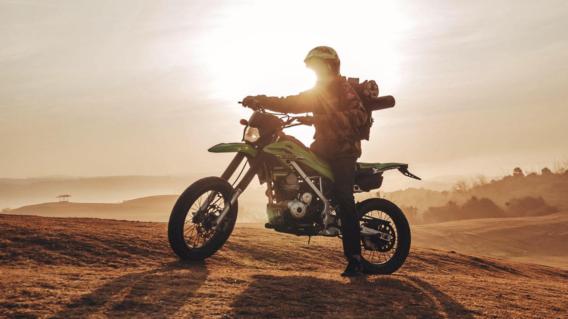 Motorcyclist, Motorcycle, Dawn Download Free HD Wallpapers