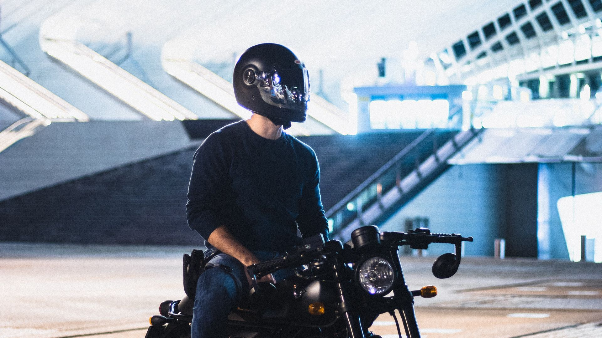 Motorcyclist, Motorcycle, Helmet Download Free HD Wallpapers (2)