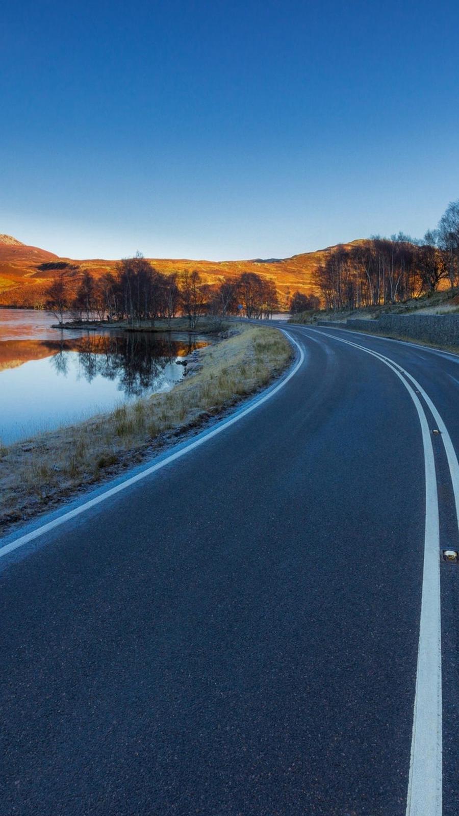 Asphalt Road Landscape Wallpaper