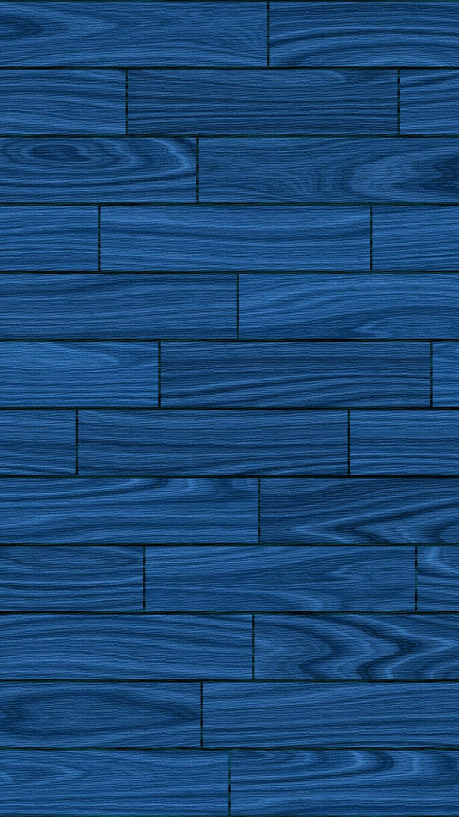 Basic Blue Wooden Wallpaper