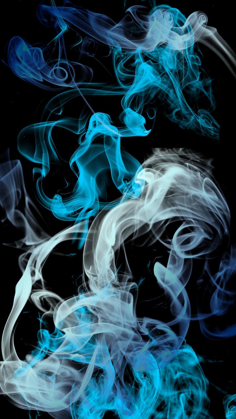 Blue Grey Smoke Wallpaper