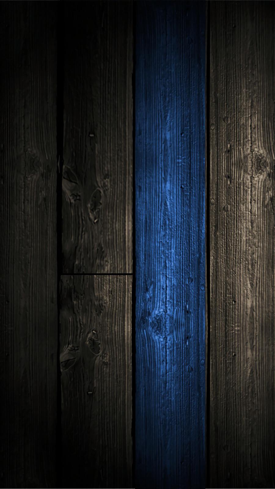 Blue Wood Wallpaper