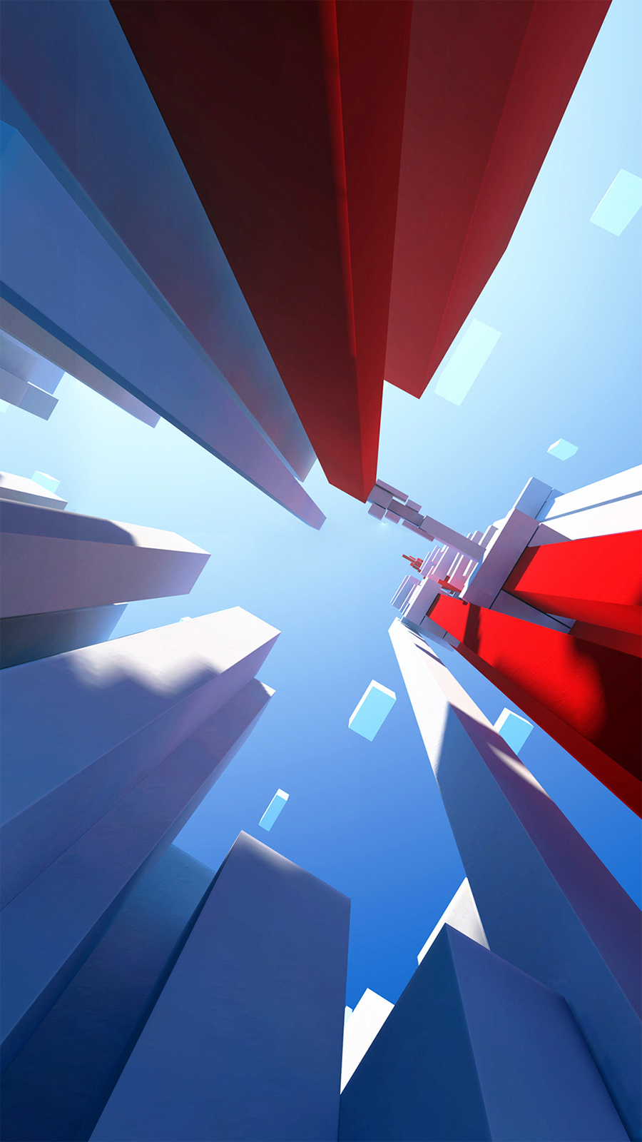 3D Shapes Buildings Look Up Android Wallpaper