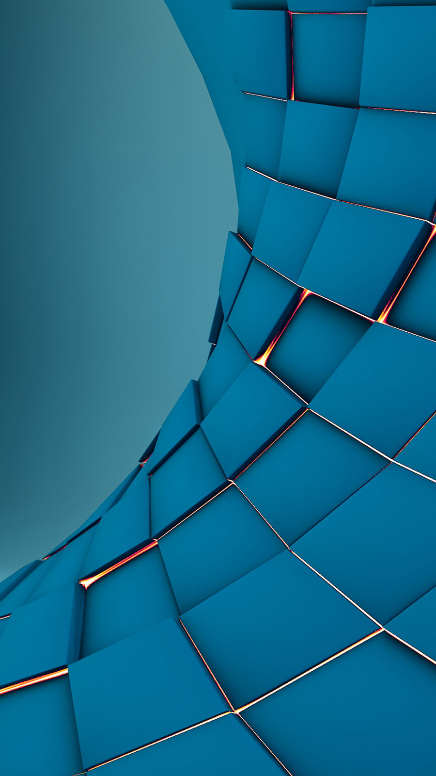3D Squares Abstract Render Android Wallpaper