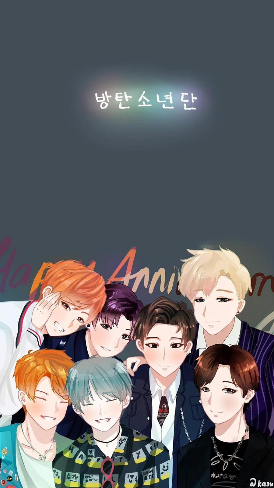 BTS Anime Wallpaper- Wallpaper For BTS Anime