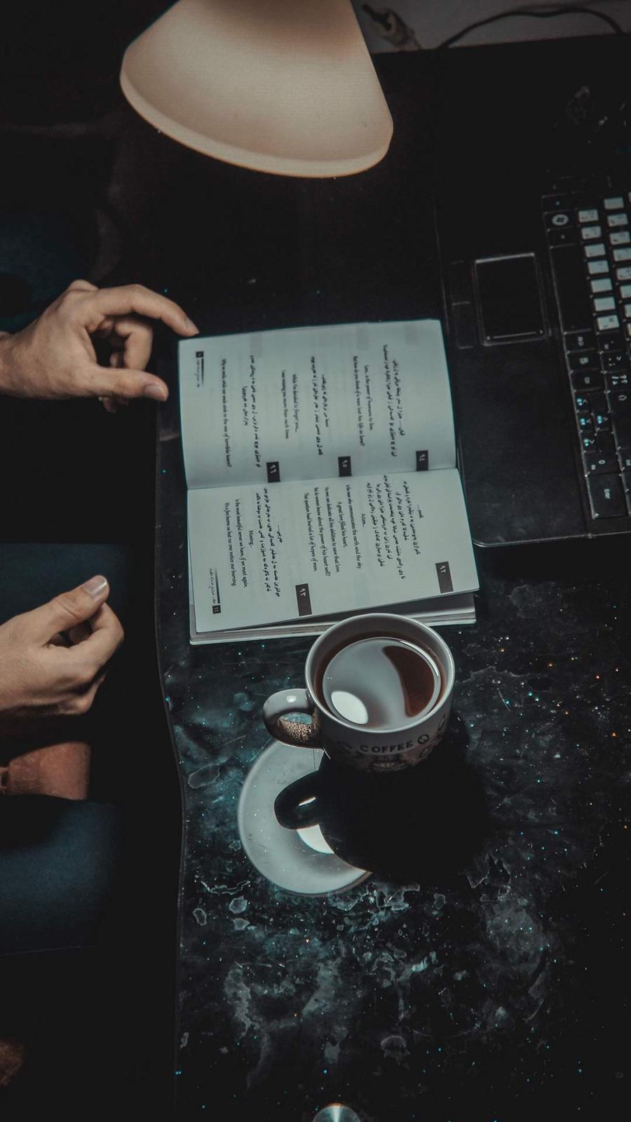 Book & Coffee Wallpaper Download