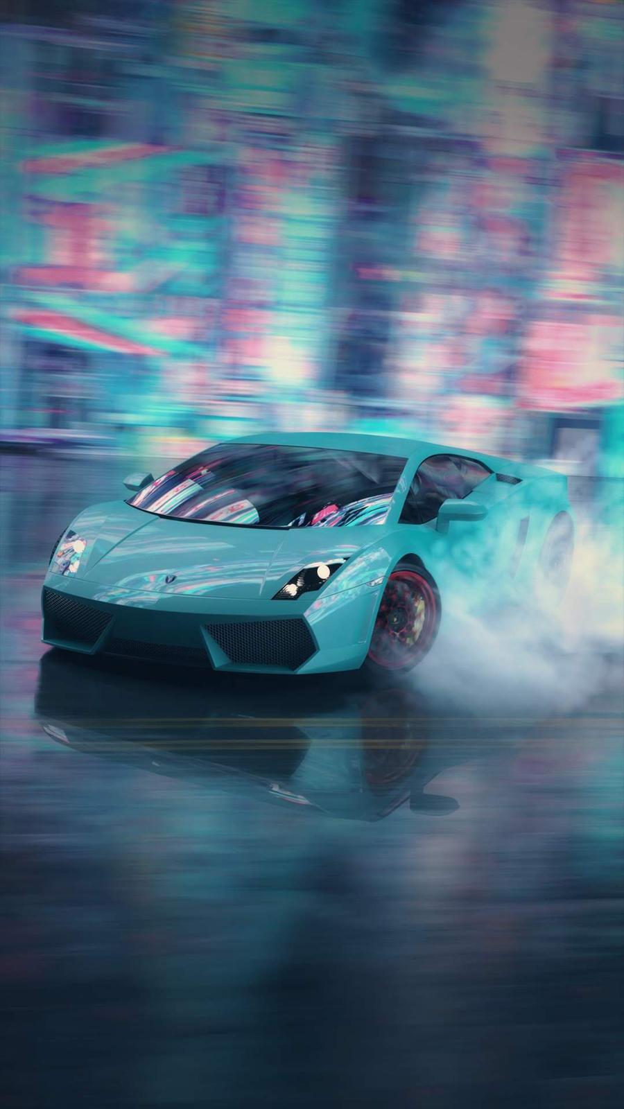 Cartoon, Lamborghini, Blur, Car, Wallpapers Free Download For Mobile