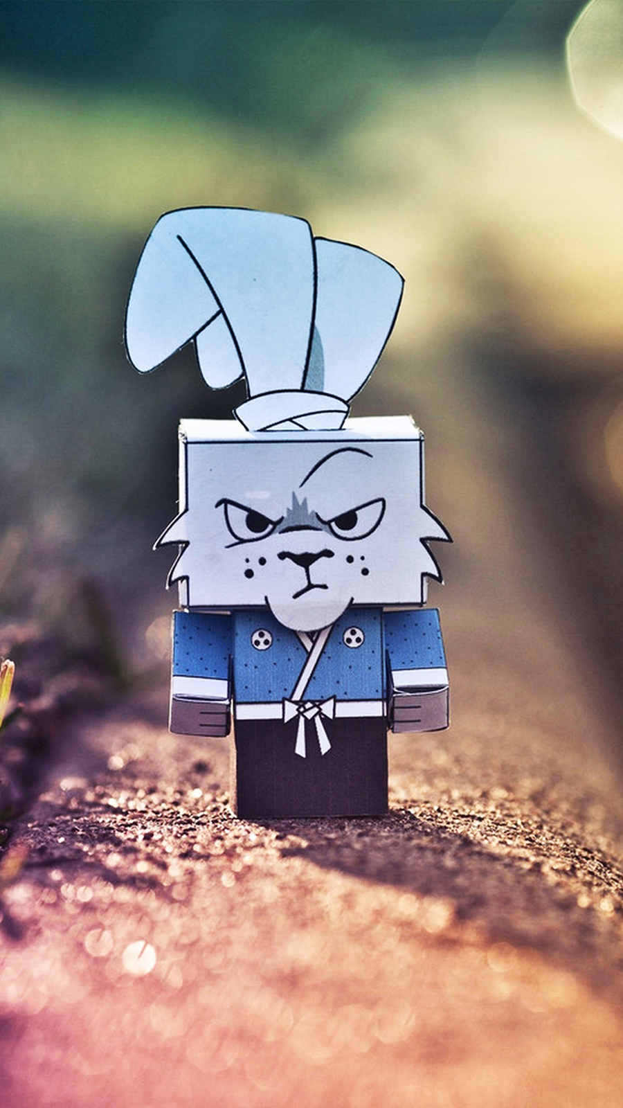 Cute Grumpy Cardboard Rabbit 4K Wallpapers Free Download
