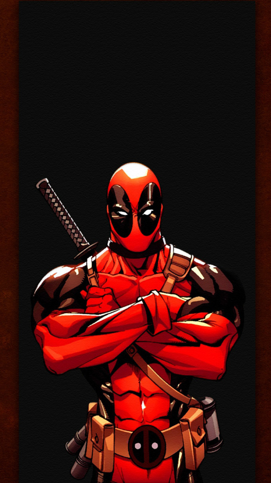 Deadpool Illustration Phone Wallpapers Free Download