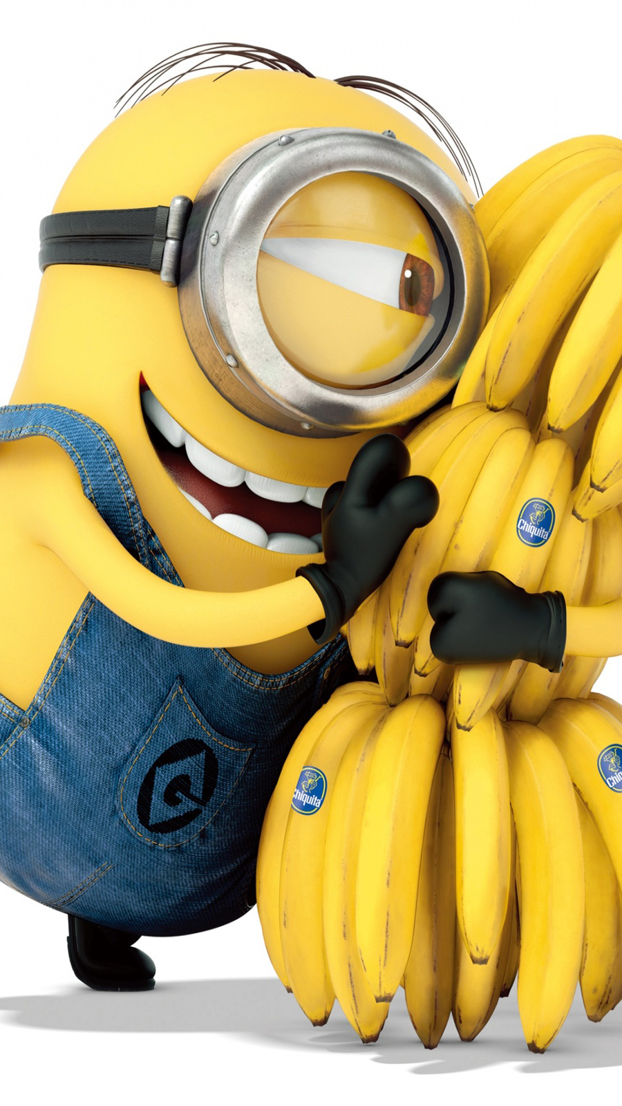 Despicable Me Minion Hugging Bananas Wallpapers Free Download