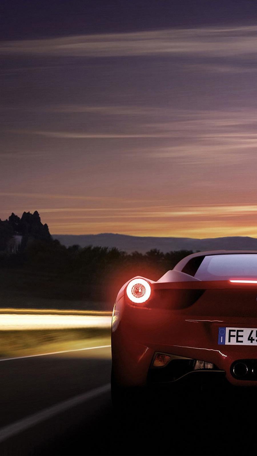 Ferrari 458 Italia Rear Phone Wallpapers Free Download