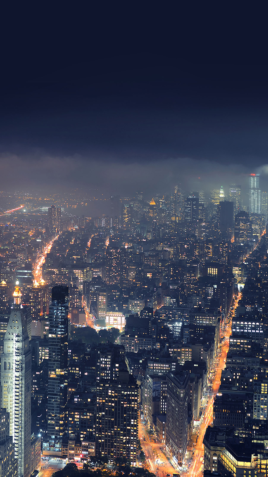 Gotham City At Night Android Wallpaper