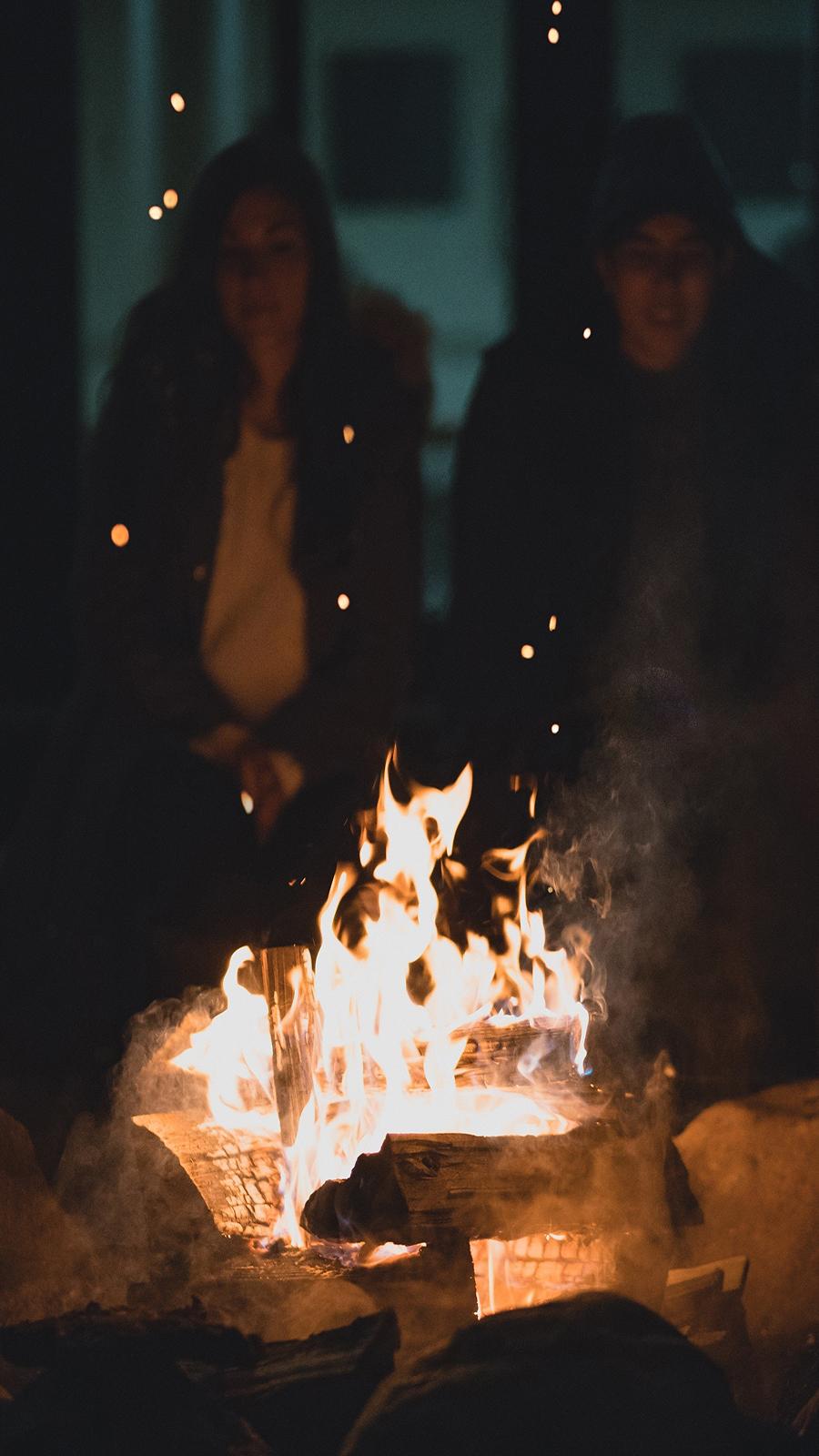 Fire, Camp, Night Wallpapers Free Download Phone & Desktop