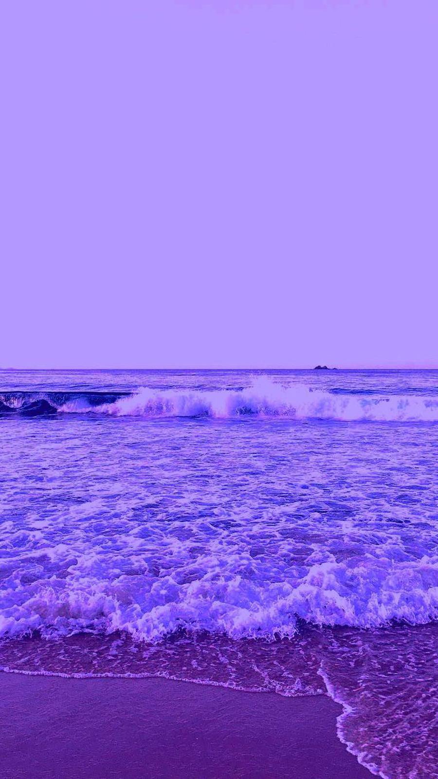 Purple Ocean, Sea, Beach Wallpapers Free Download