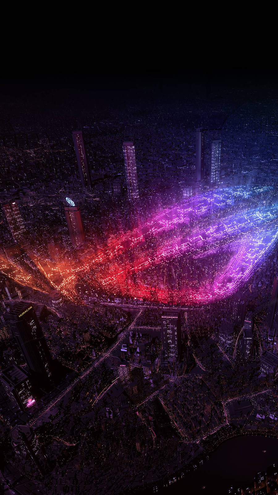 ROG, City Lights Wallpapers Now Download