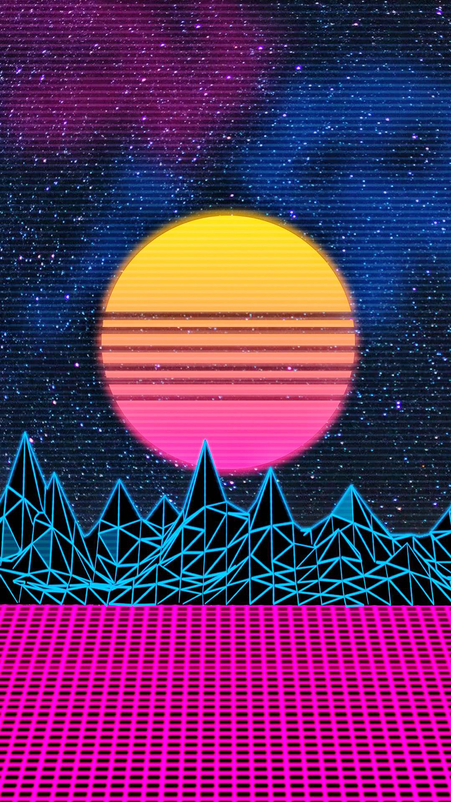 Retro Sunset Cyber Wallpapers Free Download For Your Device