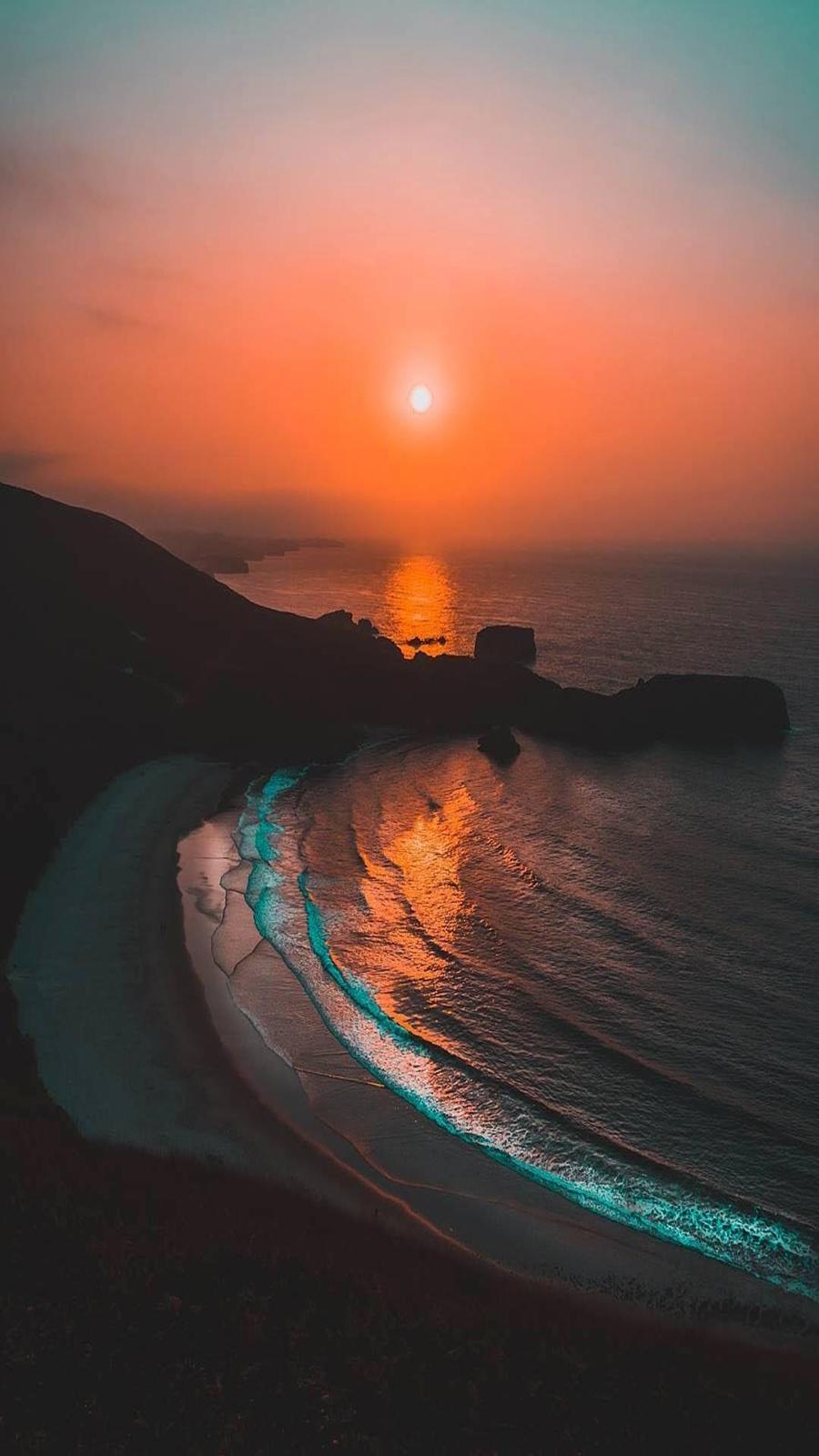 Sunset Sea 4K HD Wallpapers Free Download for Phone & Desktop