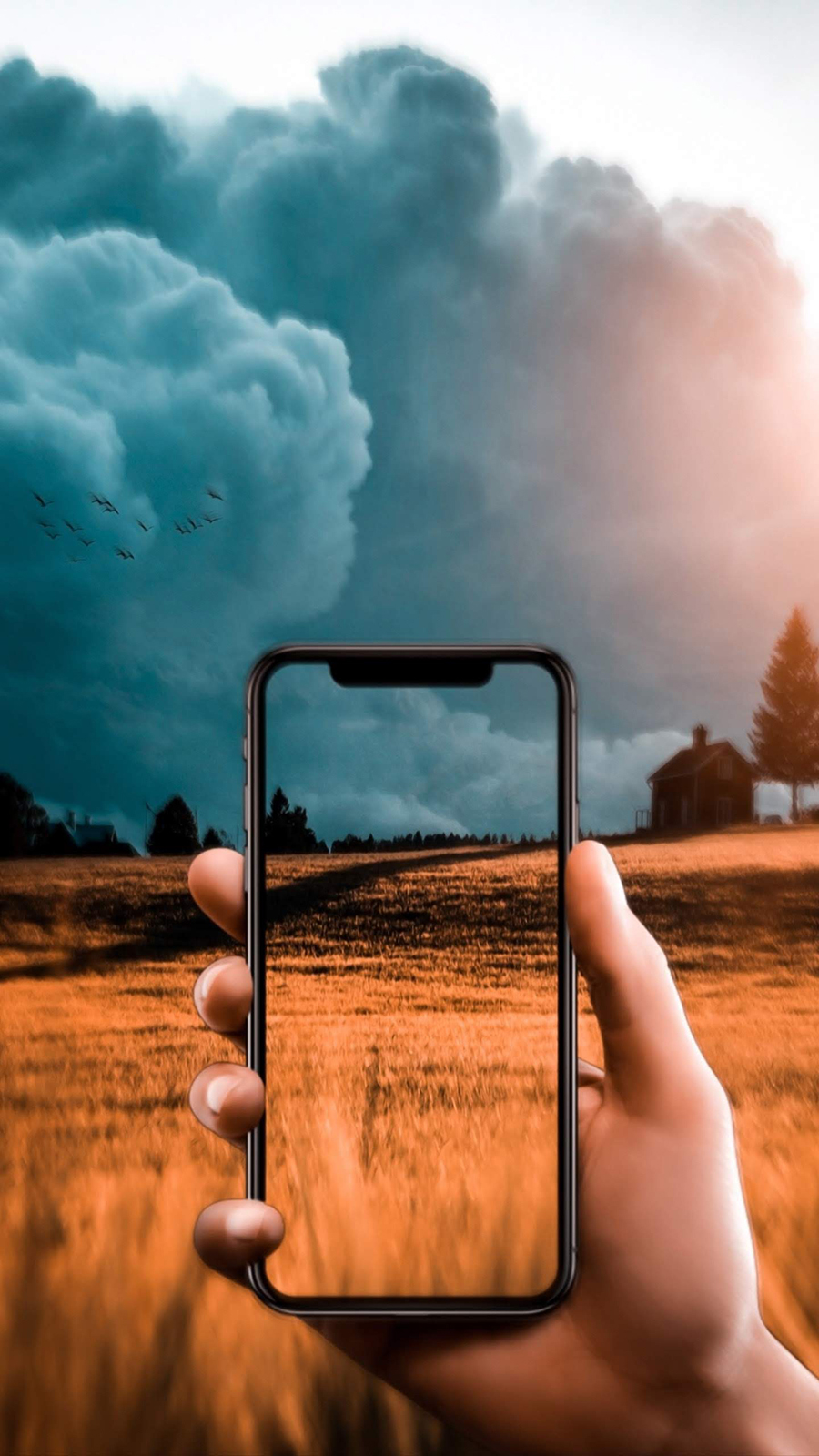 Phone & Hand Effect Wallpapers Free Download