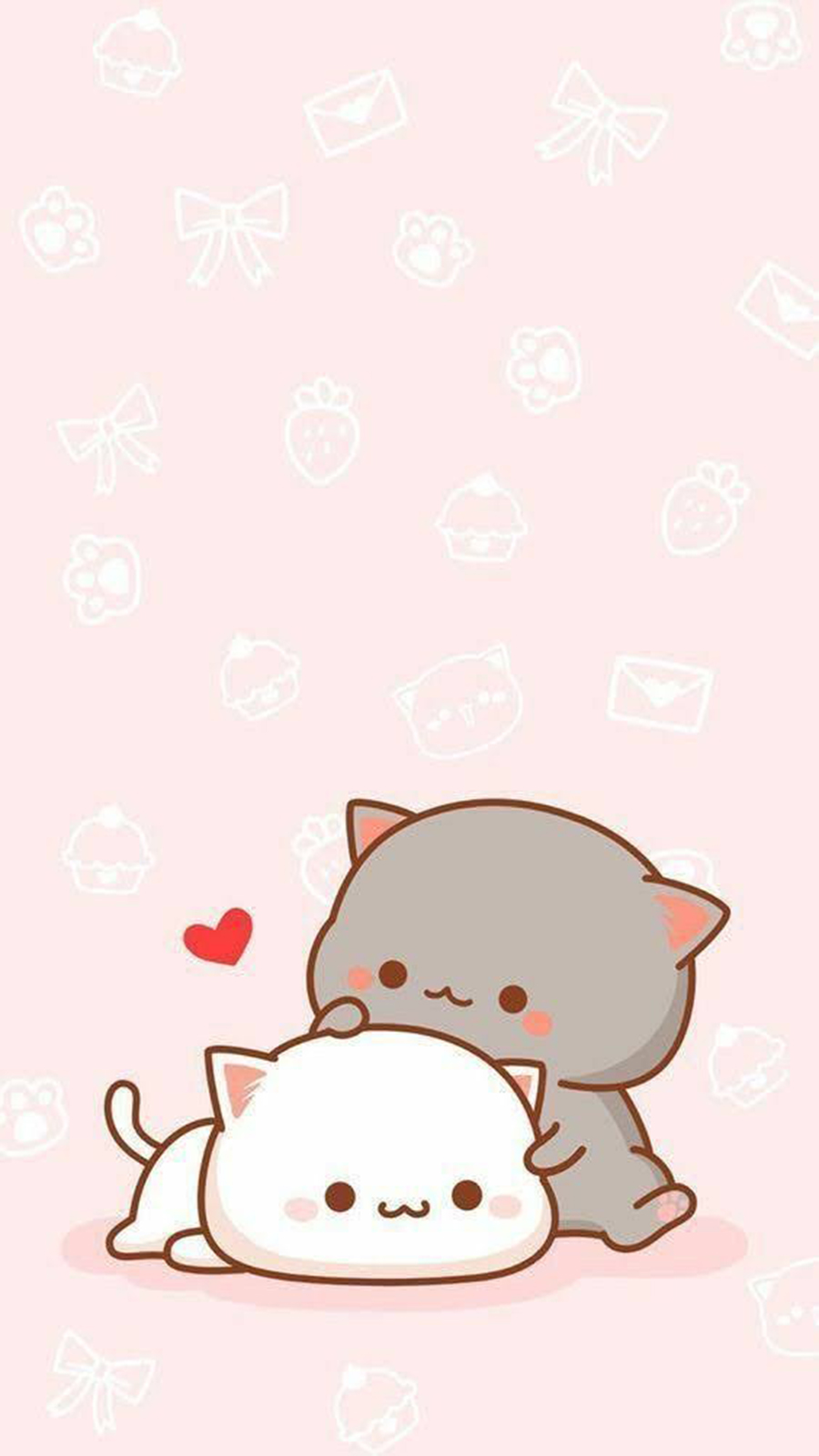 Pink Cat Cute Wallpapers Free Download