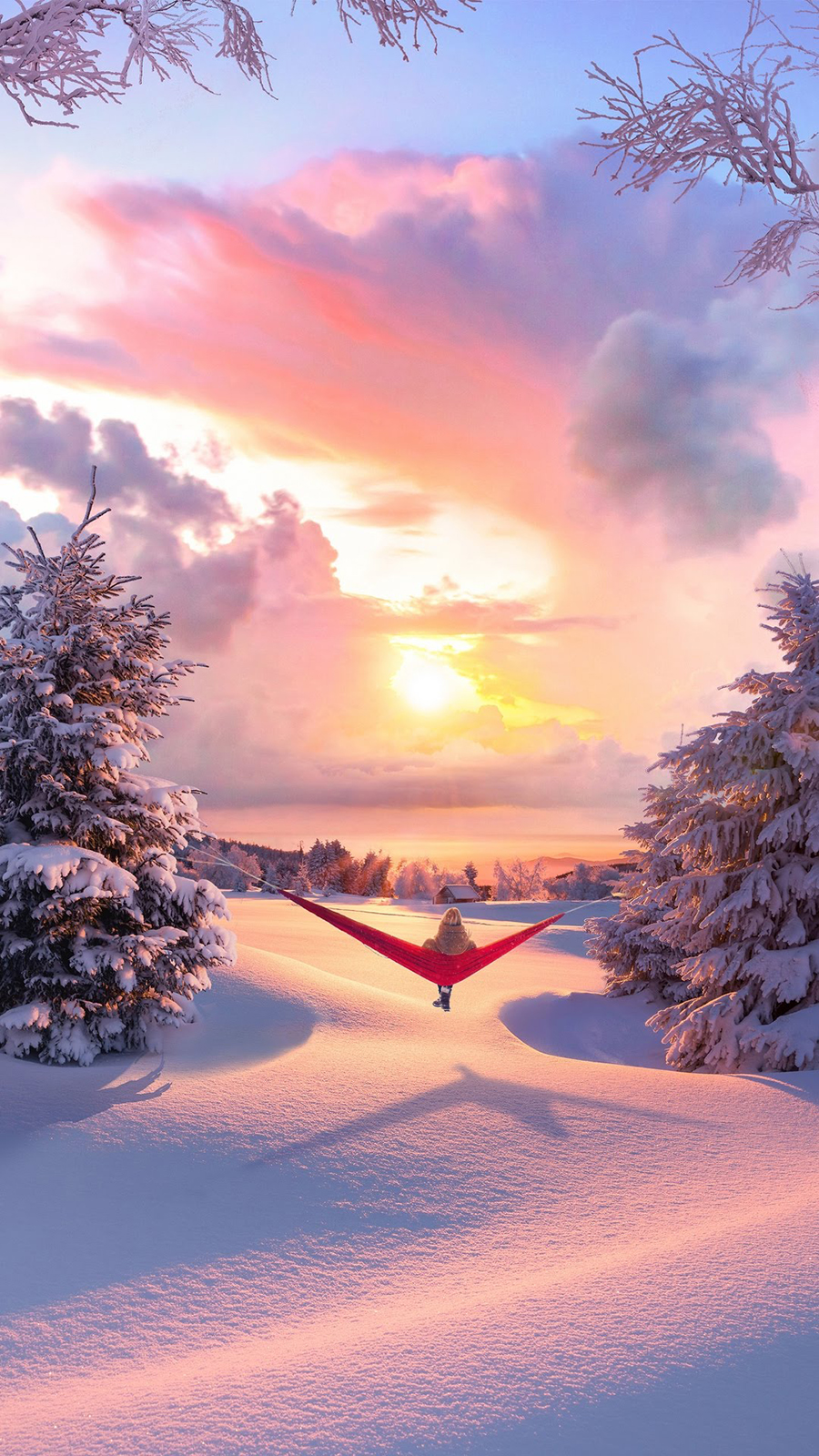 Sunset Winter Wallpapers Free Download