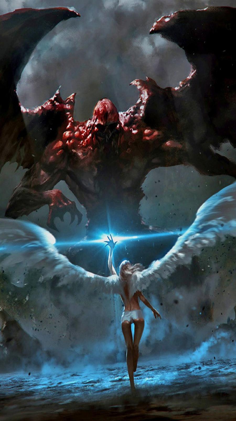 Angel VS Demon Battle HD Wallpapers Free Download