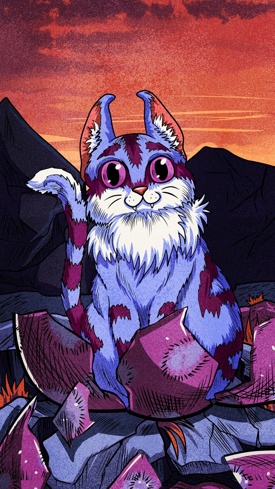 Art Cartoon Cat HD Wallpapers Free Download