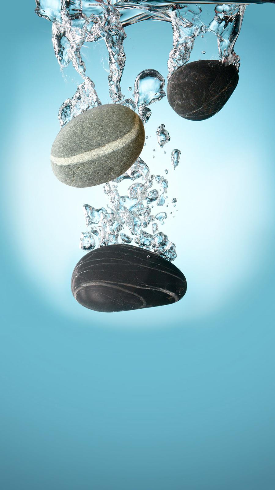 Black Pebbles Water Full HD Wallpapers Download