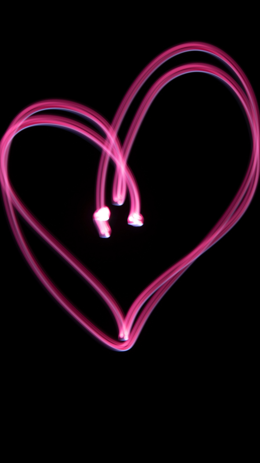 Heart Neon HD Wallpapers Free Download
