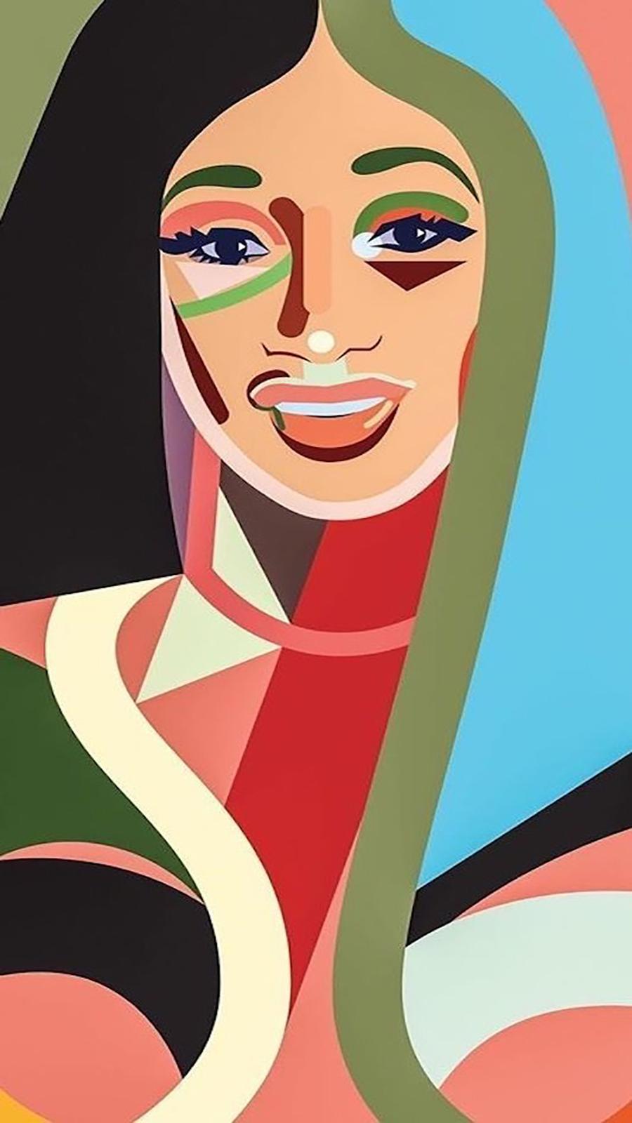 Art Cardi B Background Wallpapers Free Download
