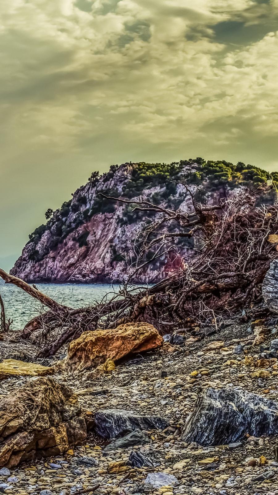 Beach Pebble Rock Hdr Wallpaper