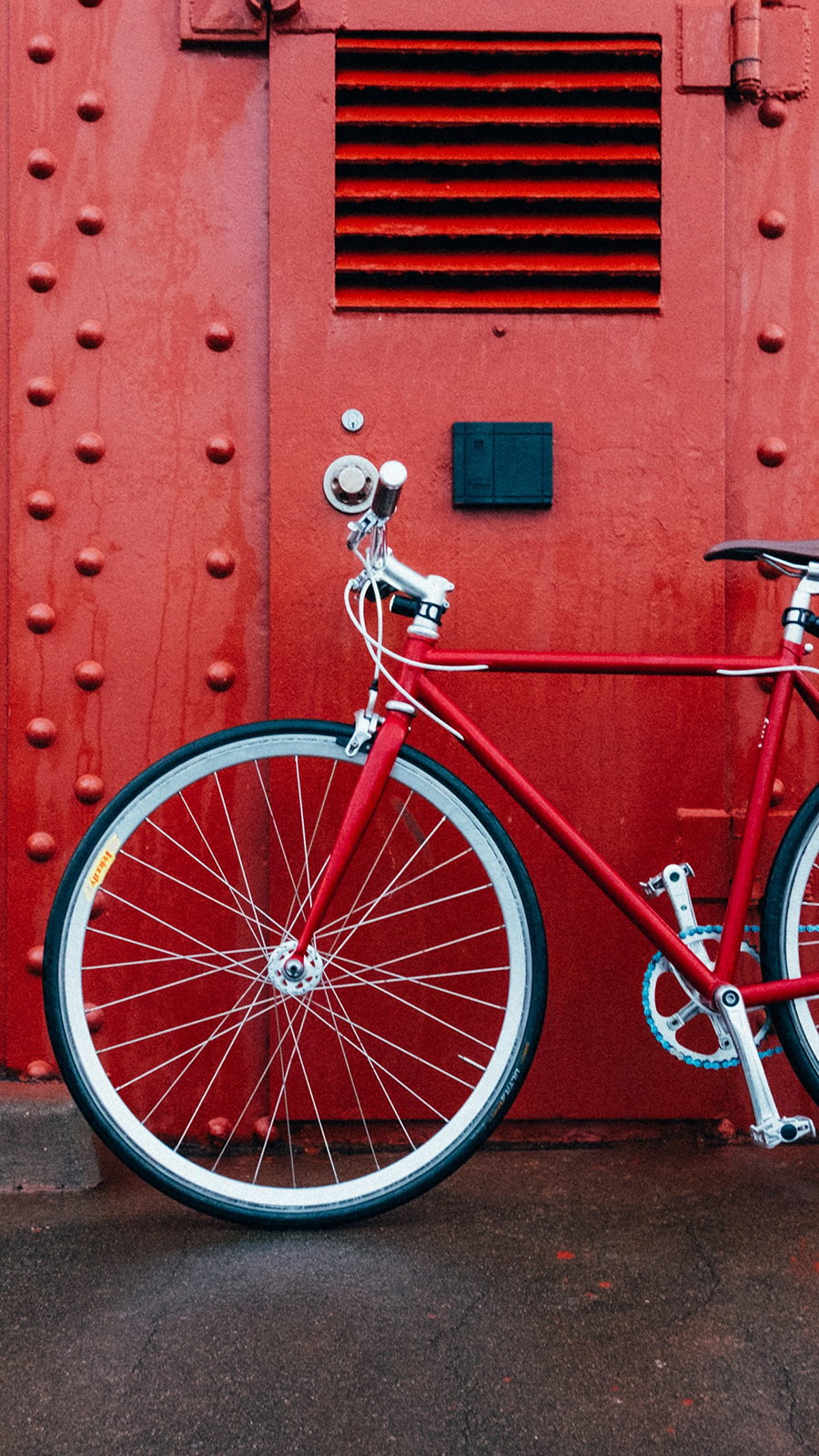 Bicycle Red Wall Wallpapers Free Download