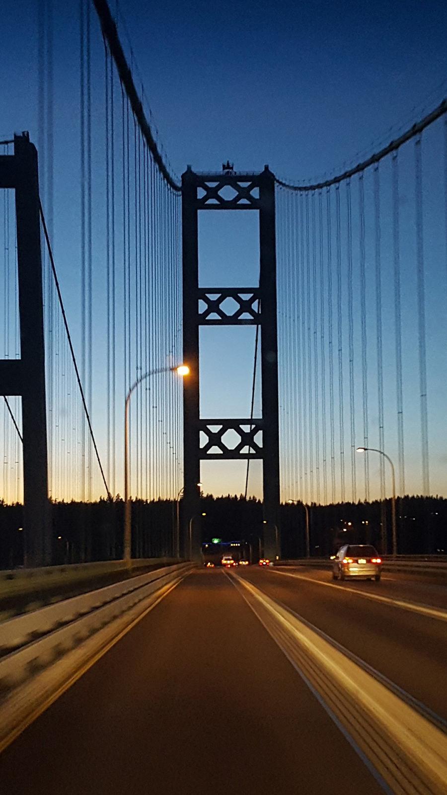 Bridge Night Road Full HD Wallpapers Download