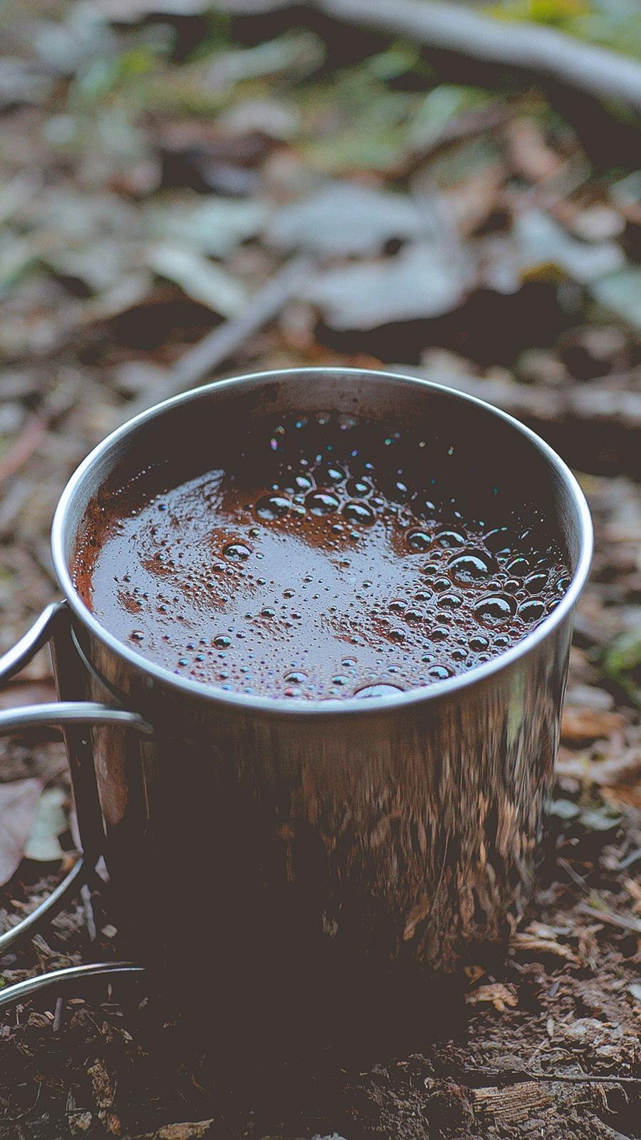 Coffee Mug Foam Foliage Free Wallpapers Download