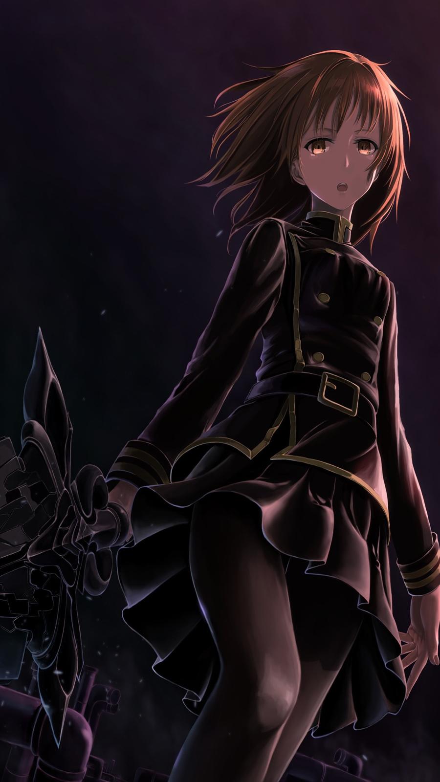 Dark Screen Anime Girl HD Wallpapers Download
