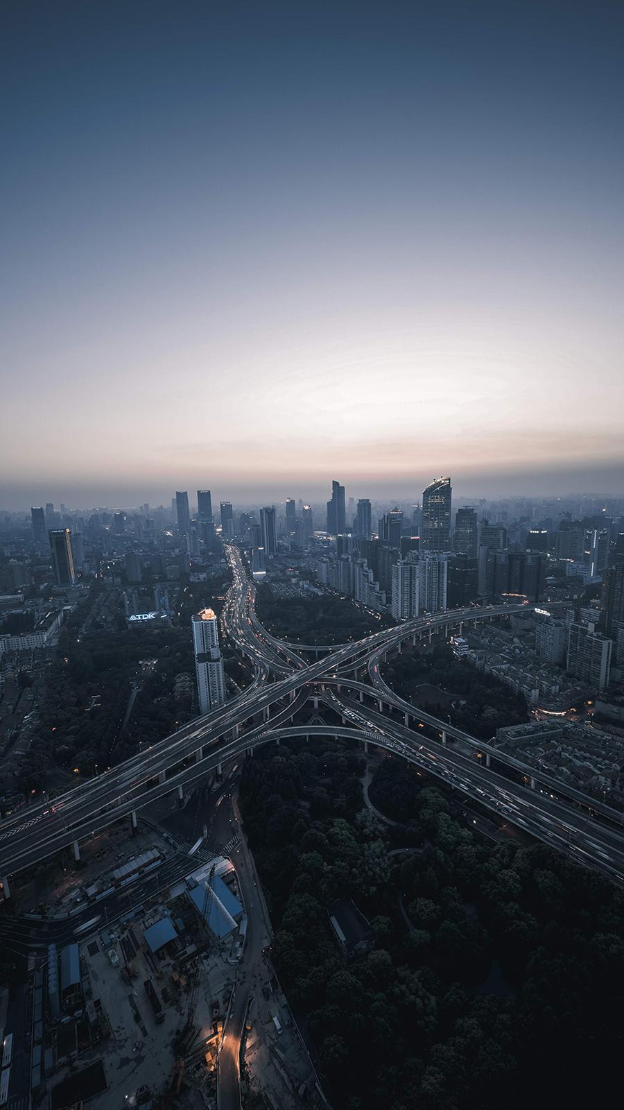 Metropolis Sky View HD Wallpapers Download